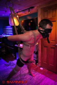 Suspended Gay Boy
